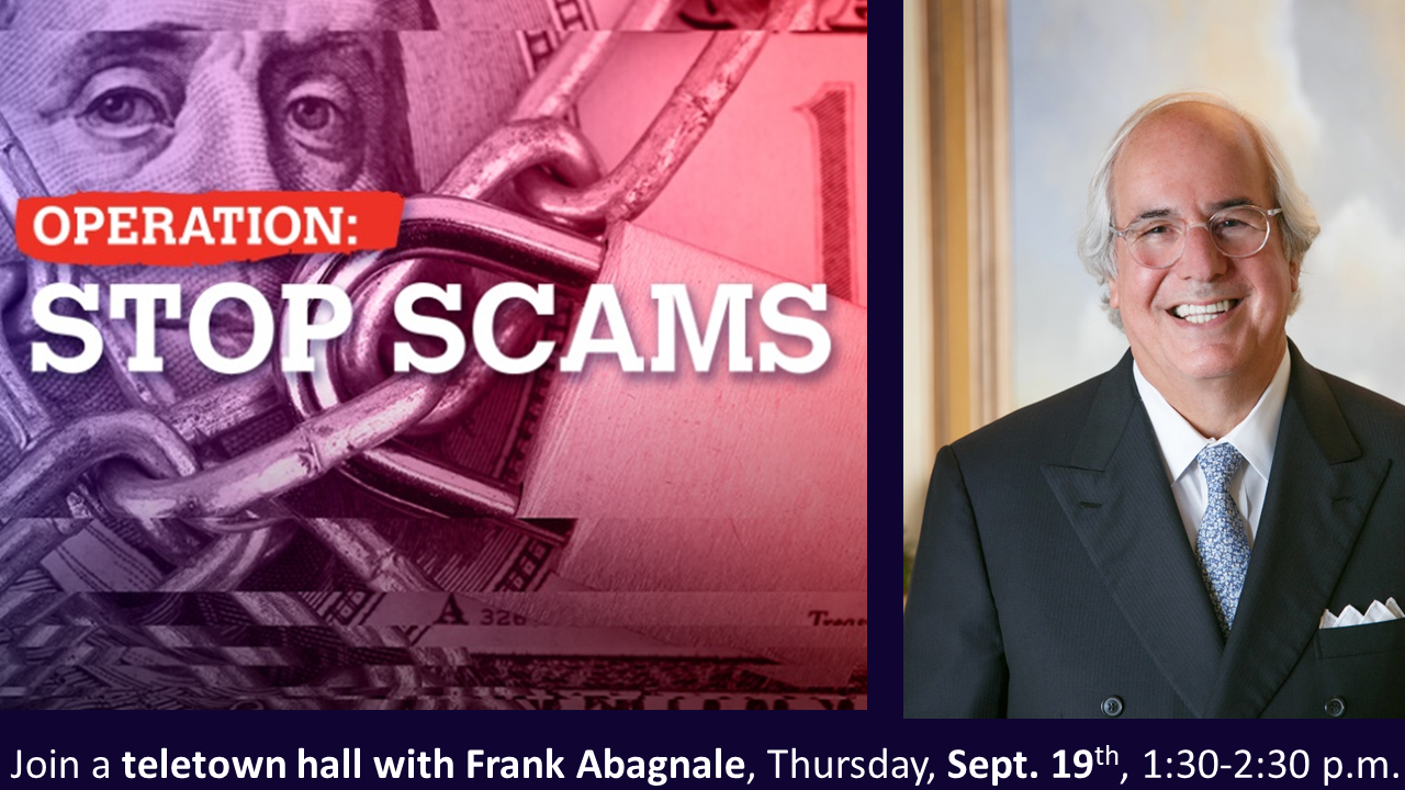 Catch Frank Abagnale by phone Sept. 19