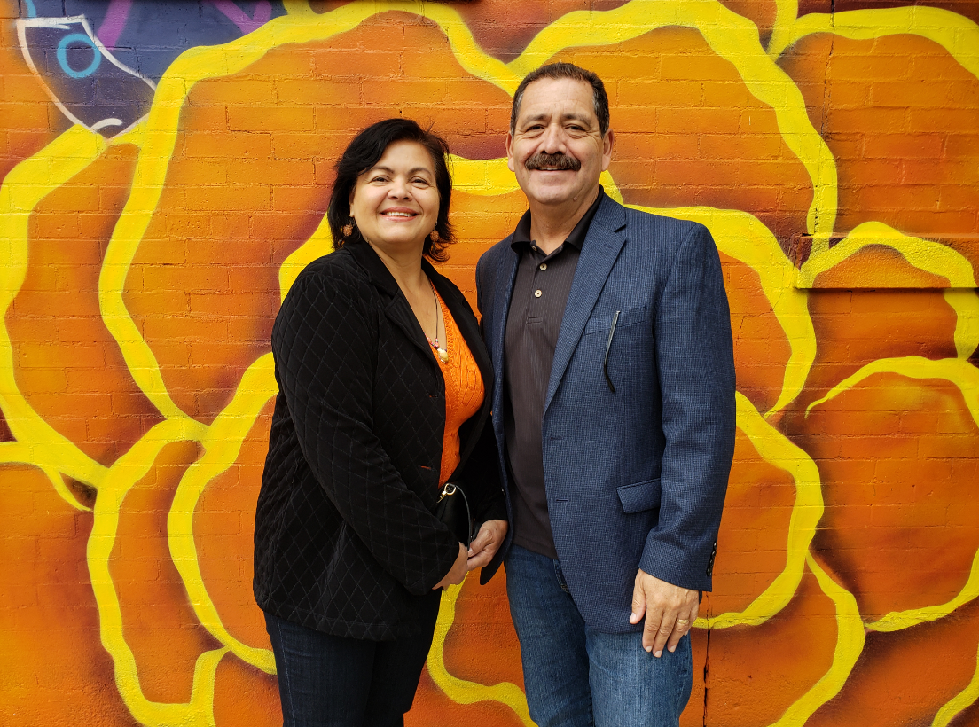 Congressman Chuy Garcia Checks Out the AARP Mural Project