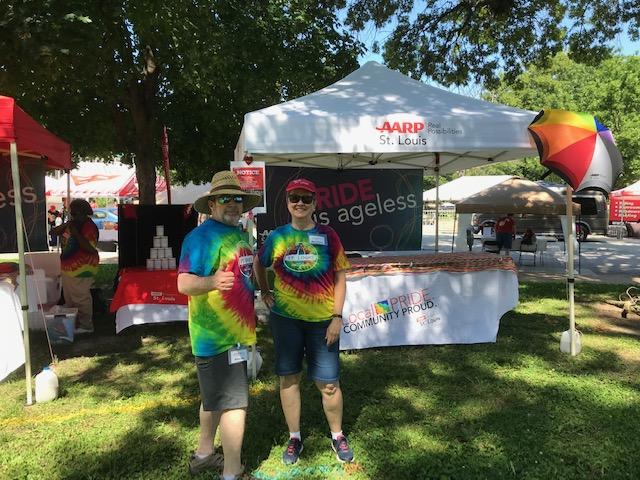 AARP in St. Louis at PrideFest 2019