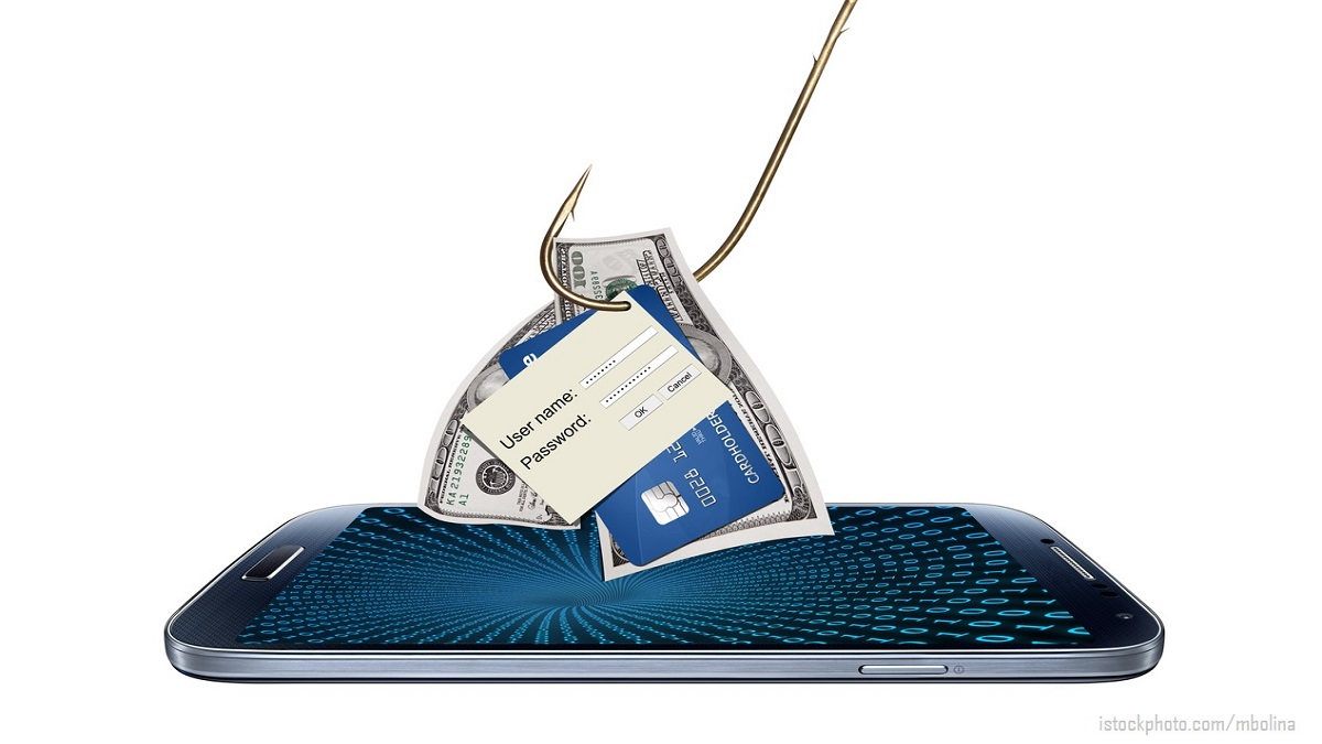 Concept of hacking or phishing with malware program