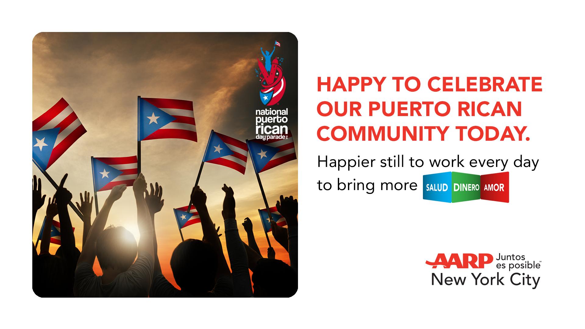 ¡En honor al 62 ° Desfile Nacional Anual del Día de Puerto Rico