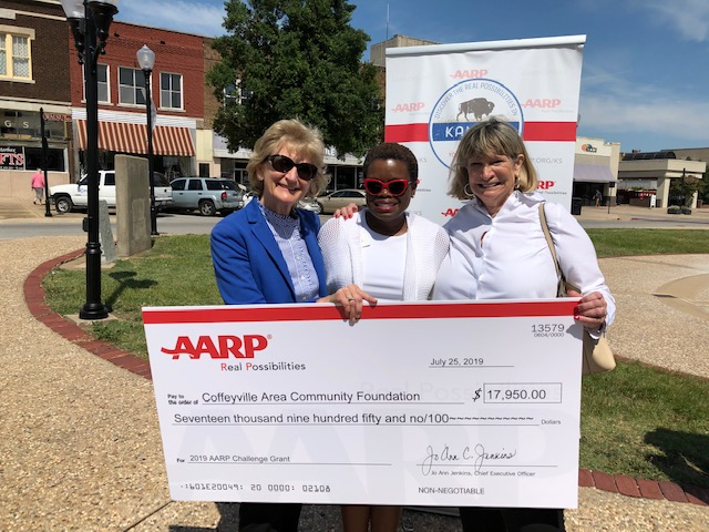Coffeyville Community Foundation Receives AARP Community Challenge Grant