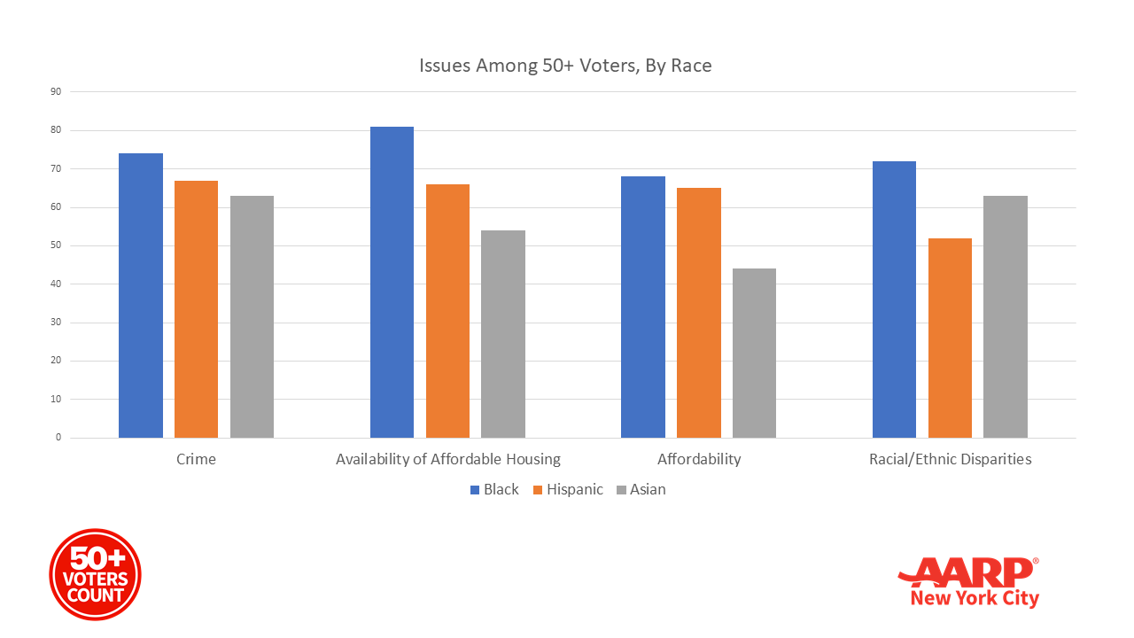Issues Among 50+ Voters By Race