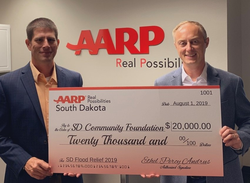 AARP SD Makes Donation to Support Disaster Recovery