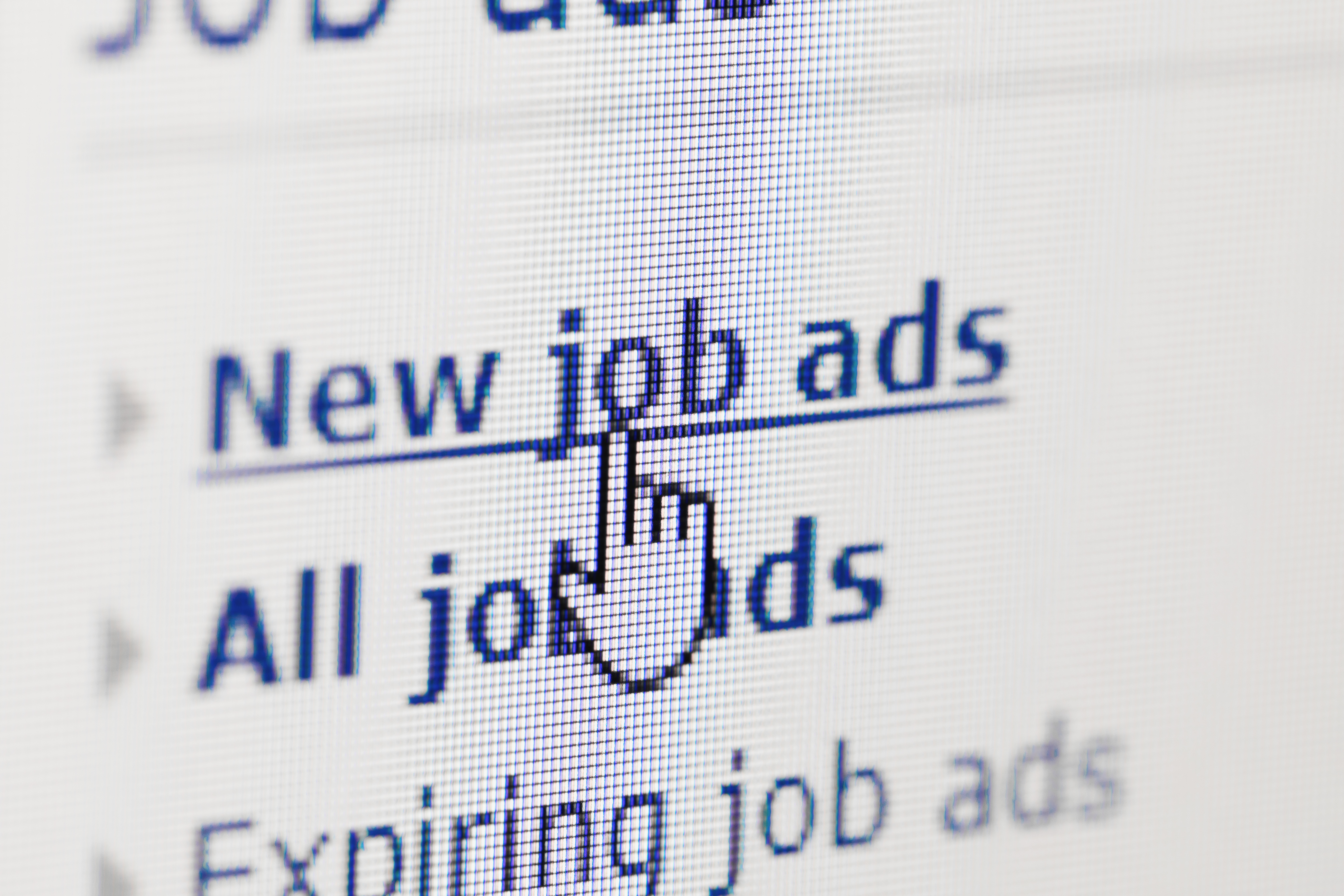 looking for new job on internet ads
