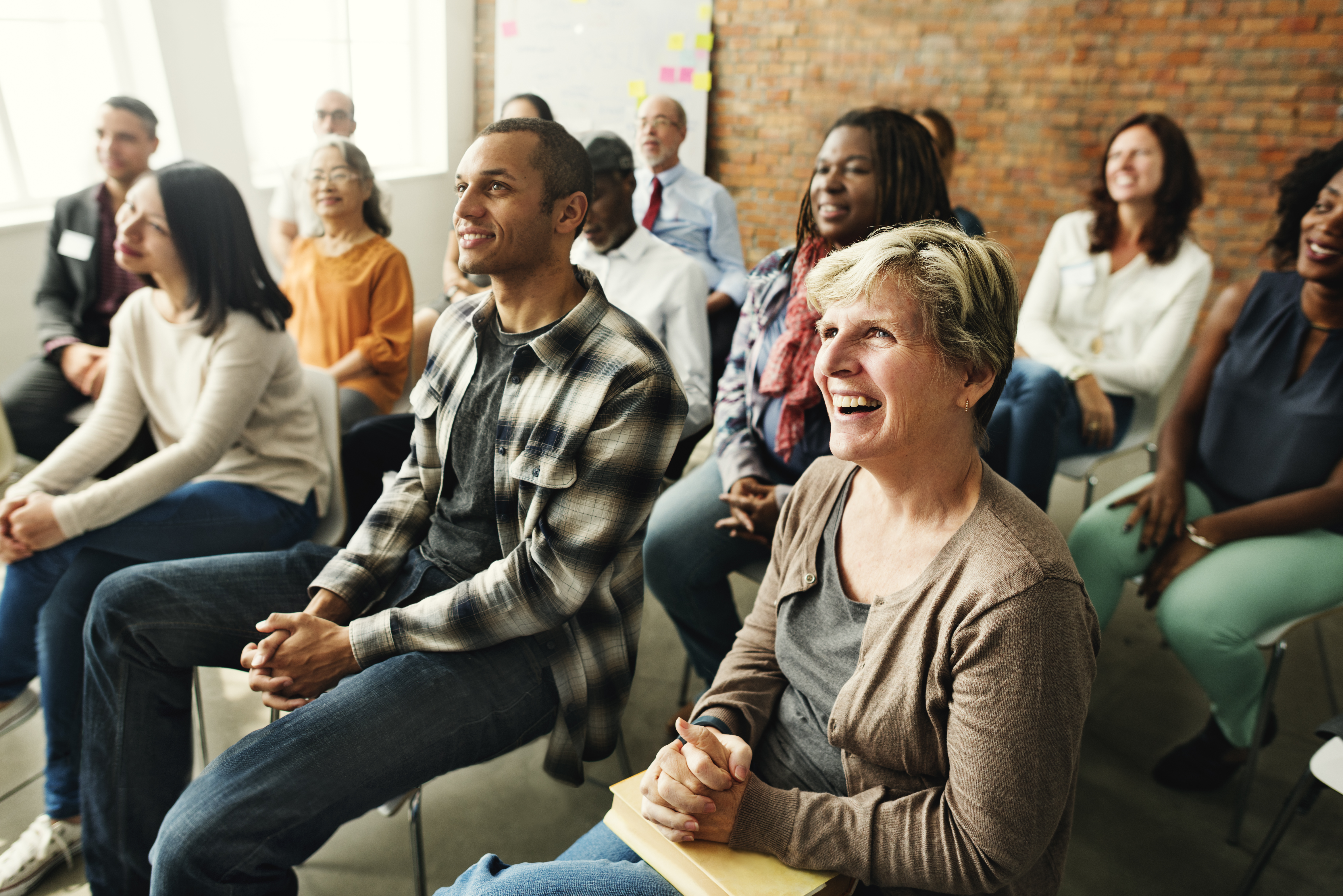 People Diversity Audience Listening Fun Happiness Concept