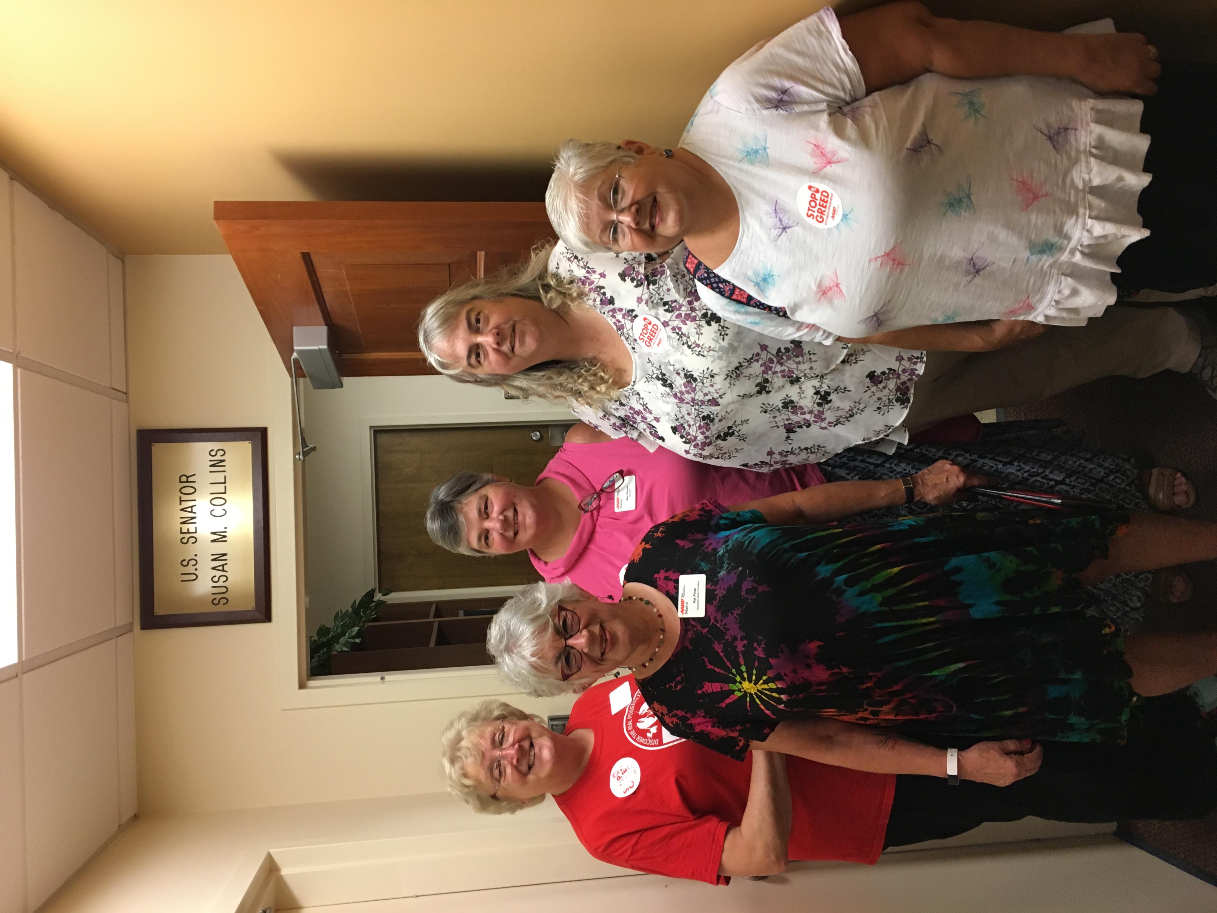 AARP Maine Volunteers at Sen. Susan Collins Portland Office