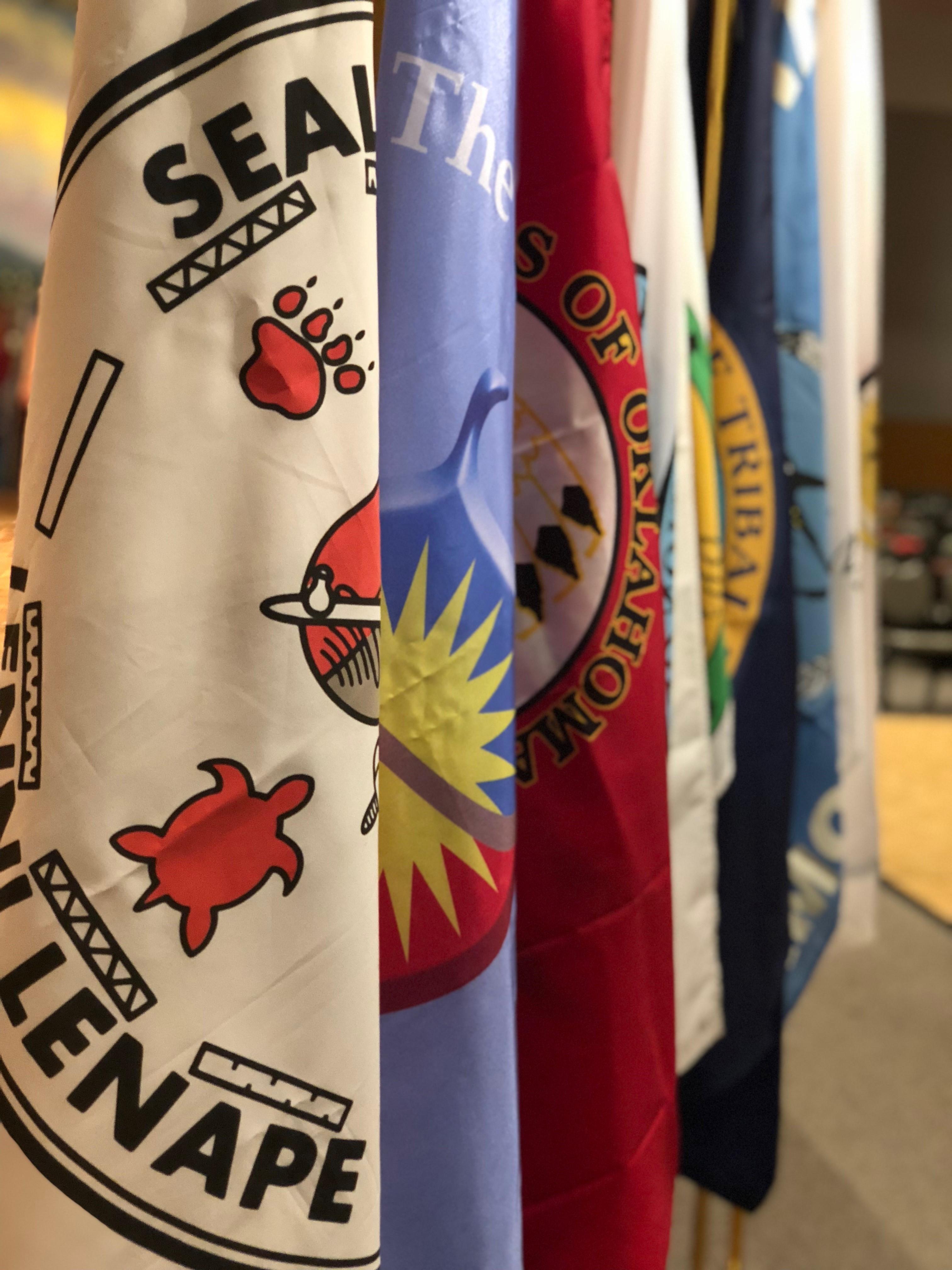 OK Indian Elder Honors flags