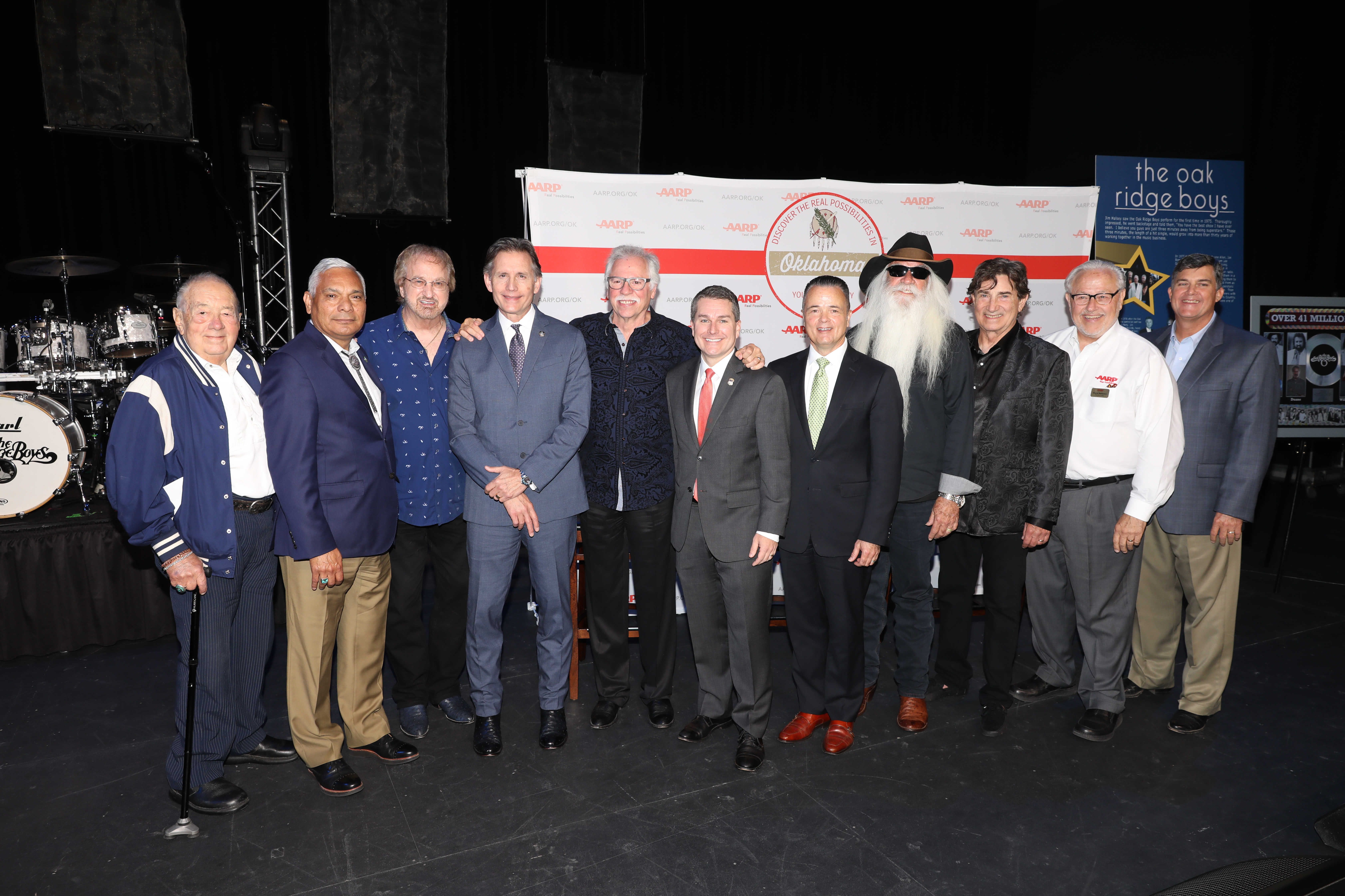 The Oak Ridge Boys join elected officials, AARP and Manager Jim Halsey in celebration of PSA announcement