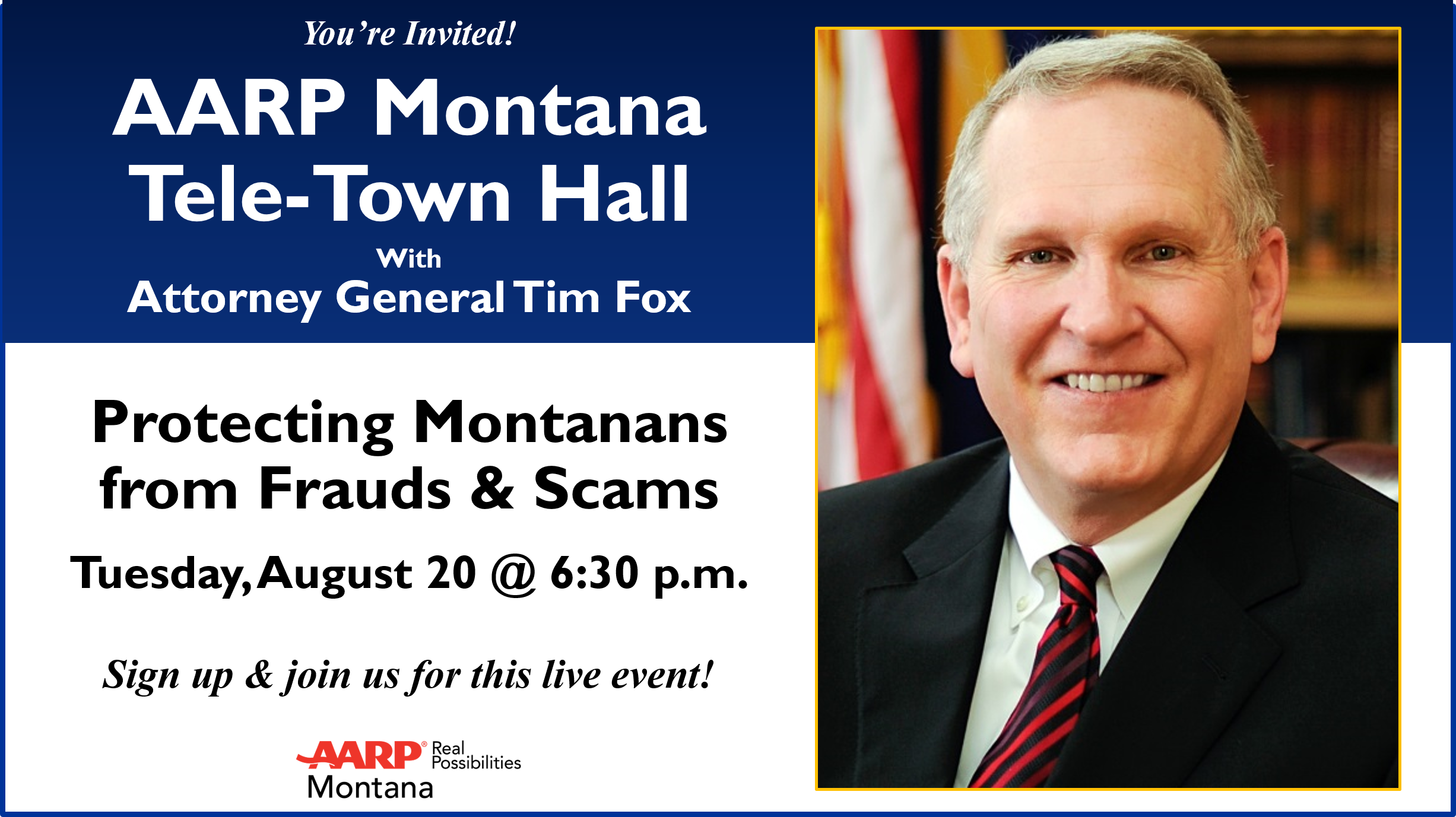 Attorney General Tim Fox to discuss Fraud Prevention and Consumer Protection with Montanans