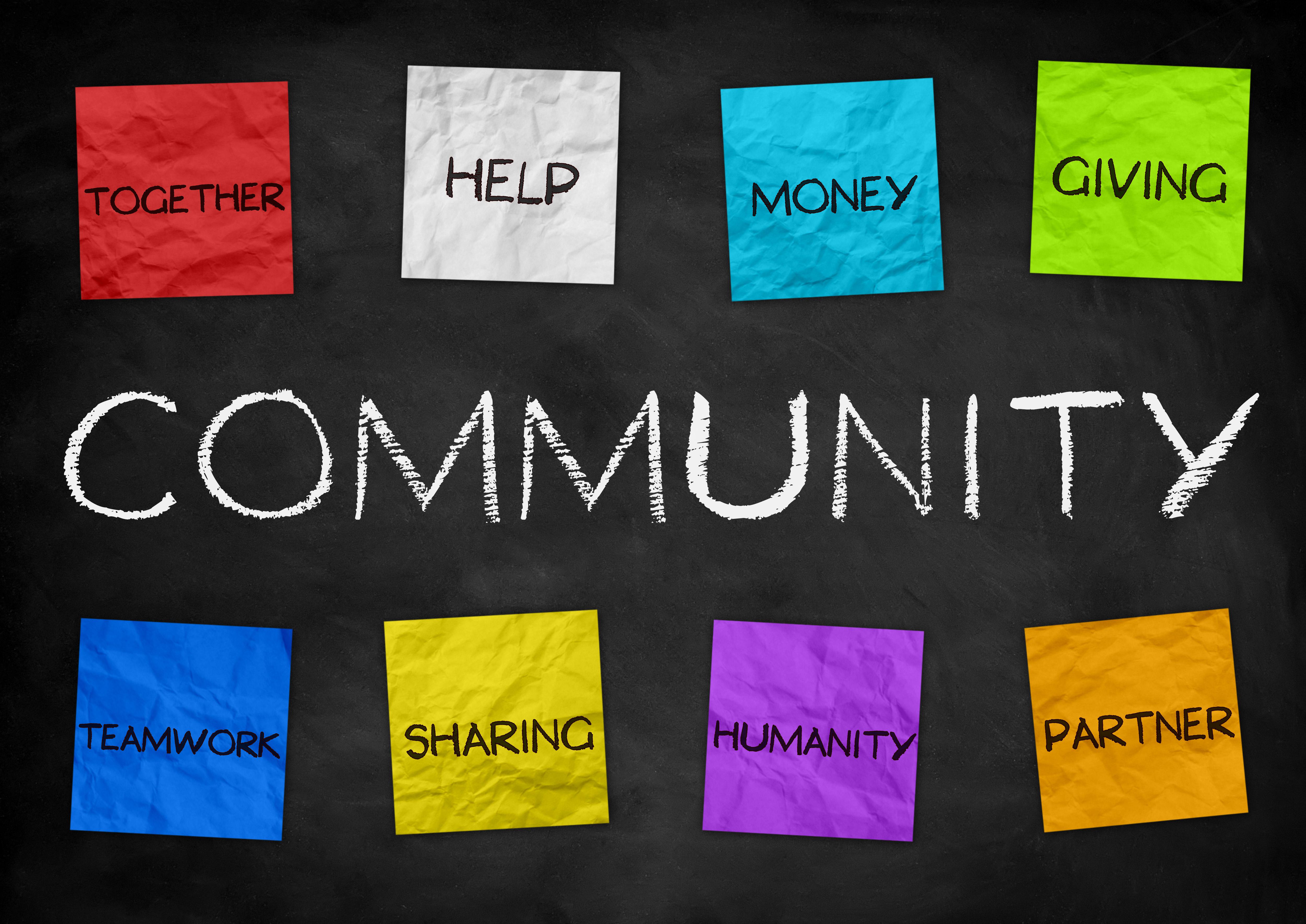 Community - illustration background