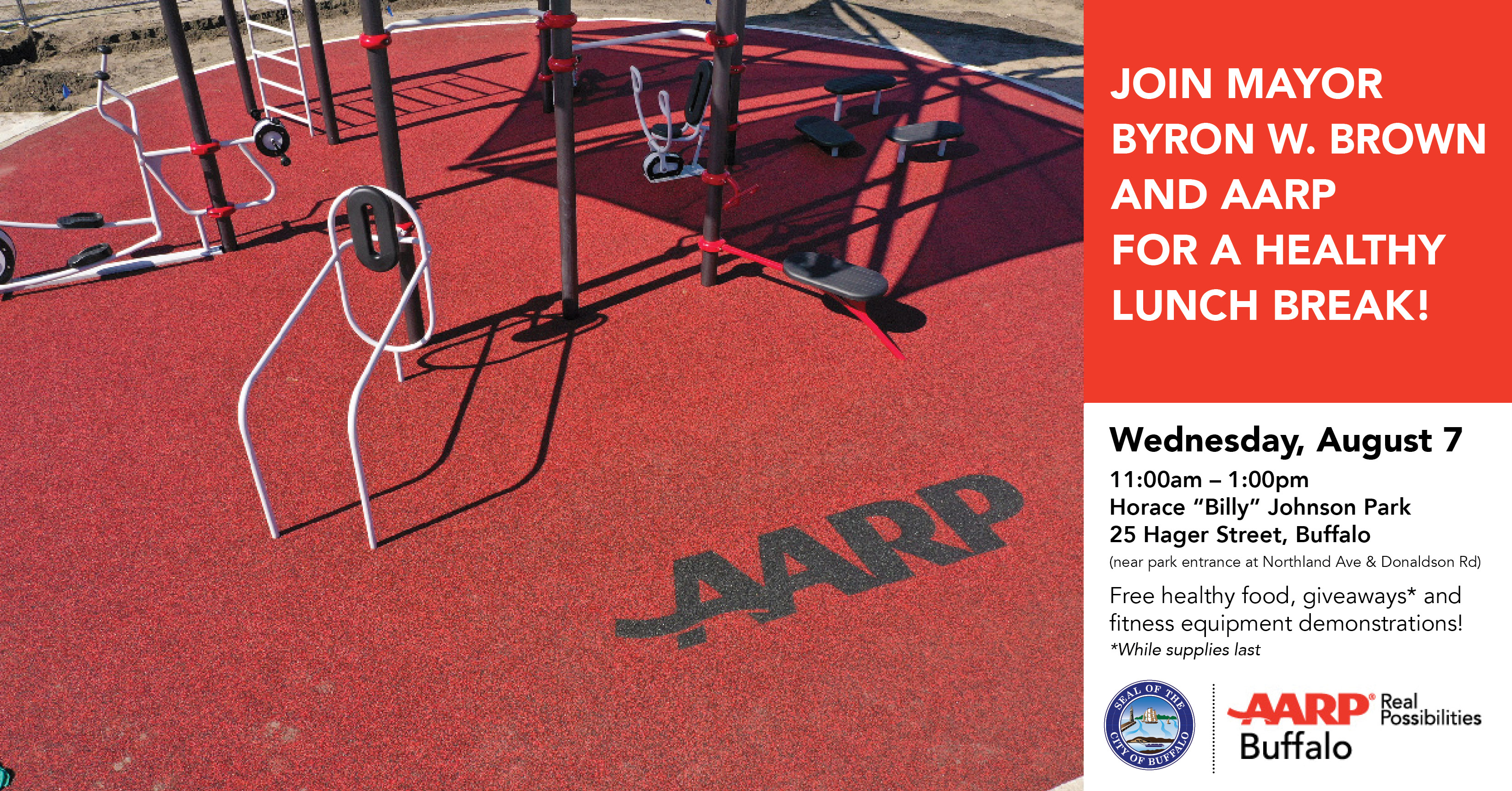 AARP NY Opens New Outdoor Fitness Park for All Ages!