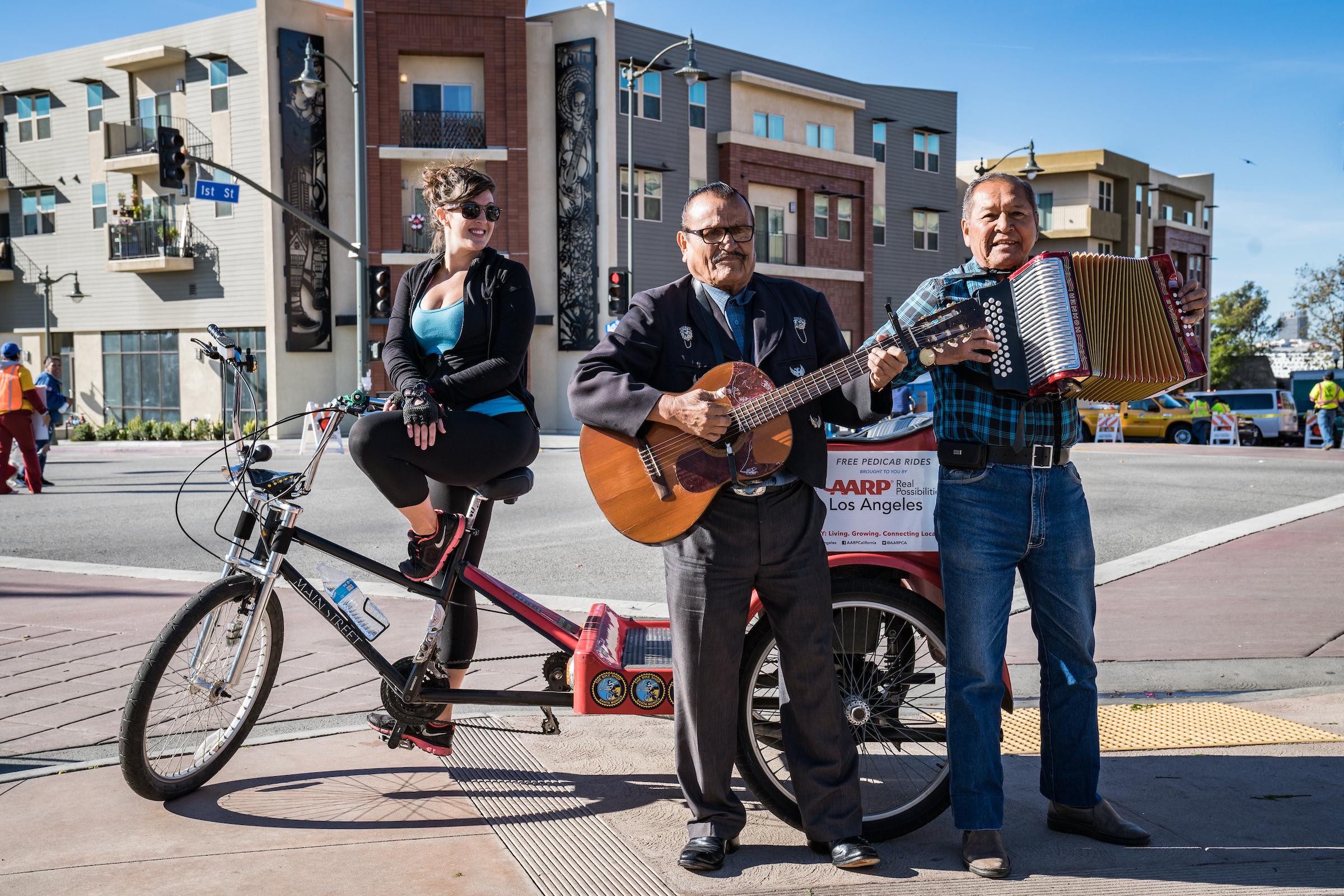 CicLAvia pedicab and musicians.jpg