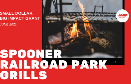 Spooner's Railroad Park to Install Grills with AARP WI Small Dollar, Big Impact Grant Funding