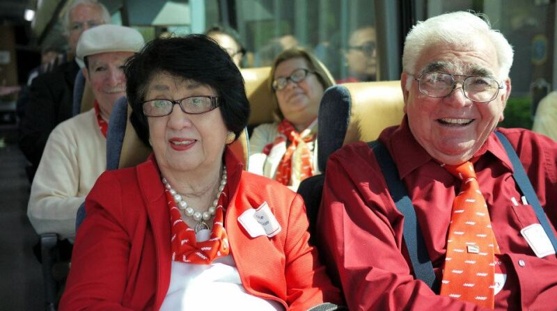 Ollie Besteiro, state president, on the way to AARP Texas' lobby day