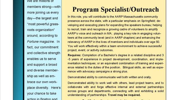 MA outreach program specialist