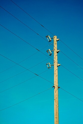 Electric pole and power lines