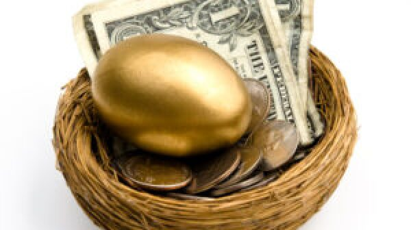 Nest Egg with money
