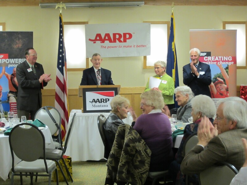 Tom Altmaier being awarded with the 2012 AARP Andrus Award
