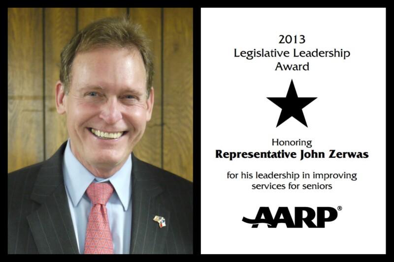 John Zerwas legislative award