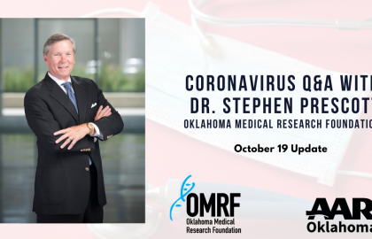Coronavirus Q&A with Dr. Stephen Prescott: October 19 Update