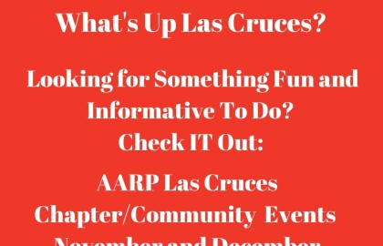 Las Cruces AARP Community Events -- November and December