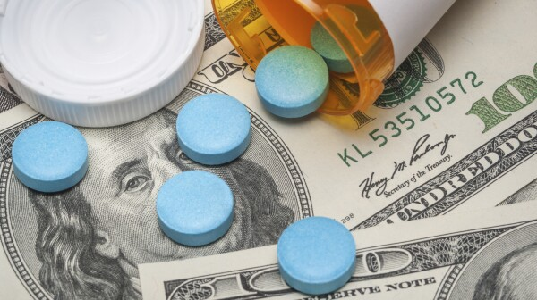 Prescription medicine and money