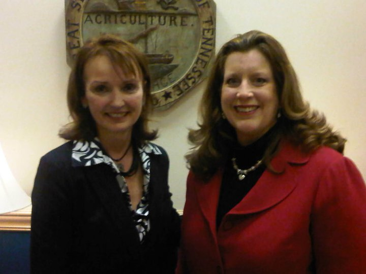 Tennessee House Speaker Beth Harwell with AARP Tennessee State Director Rebecca Kelly