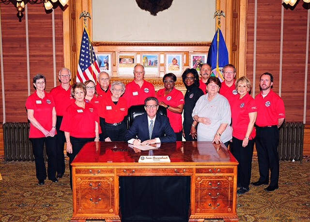 Bill signing with Governor