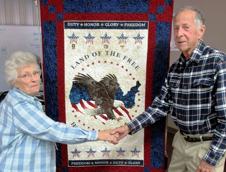 Shirley and Don D  w hanging banner