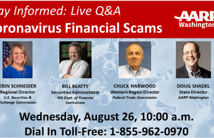 August 26 Tele-Townhall Tackles COVID Financial Scams