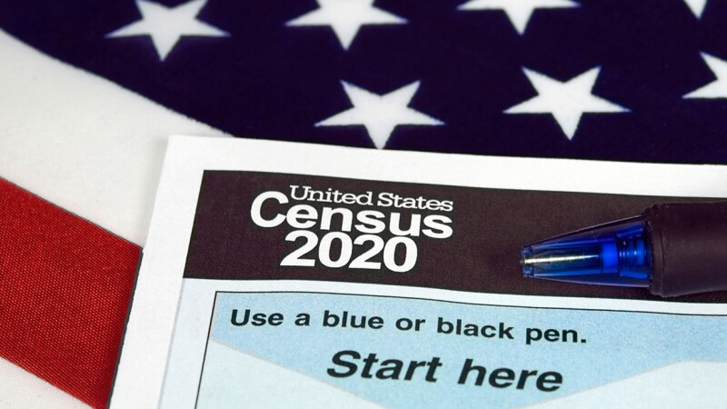 A 2020 U.S. census form