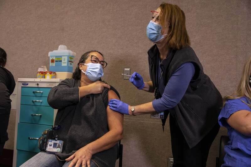 Legacy Emmanuel Medical Center In Portland Administers Area's First COVID-19 Vaccines