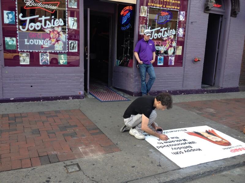 Wynonna Chalk Art at Tootsies Orchid Lounge