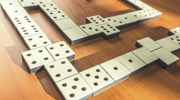domino pieces on the table