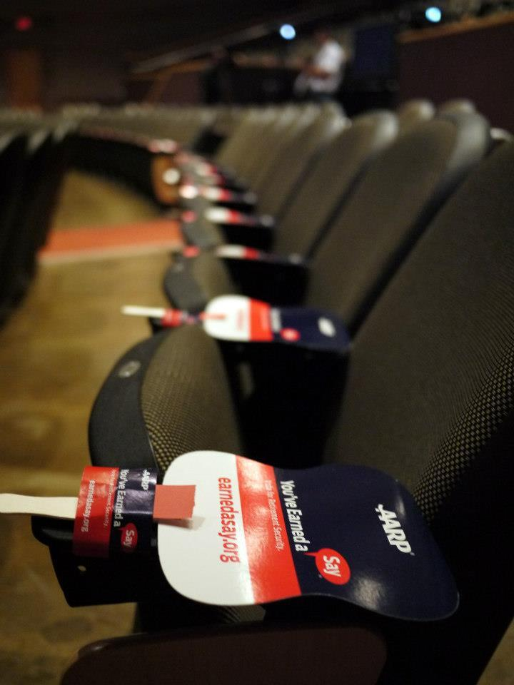 You've Earned a Say fans fill auditorium seats