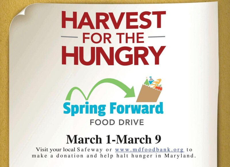 MD Harvest for the Hungry Spring Forward food drive logo