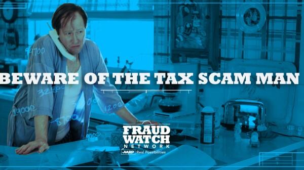 FraudWatch Network Tax Scam Man