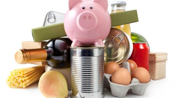 piggybank and food