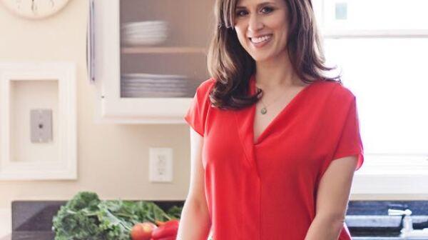 Nutritionist Kristin Kirkpatrick poses in kitchen