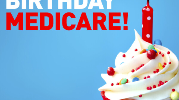 Happy Birthday Medicare Graphic