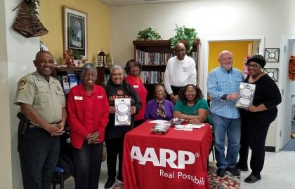 AARP Volunteers Give Out Smoke Detectors in Hampton