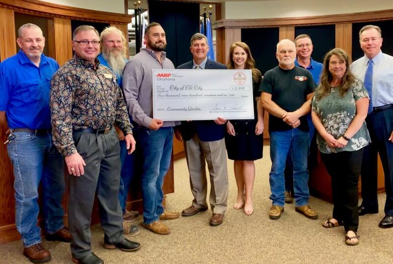 Elk City Group Photo Community Grant Challenge Check Presentation 2019.JPG