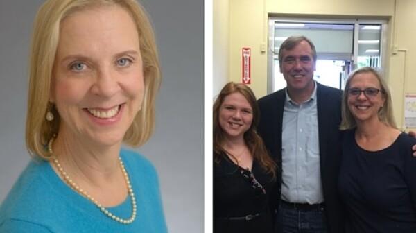 Joyce, Katherine and Jeff Merkley