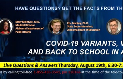 AARP Tele-townhall: COVID variants, Vaccines, & Back to School in Alabama