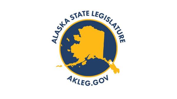 Logo for the Alaska State Legislature, with the website AKLEG.gov
