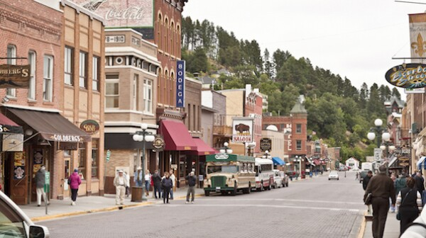 Upper Main Street in Deadwood, South Dakota