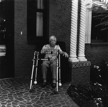 Woman at long-term care facility