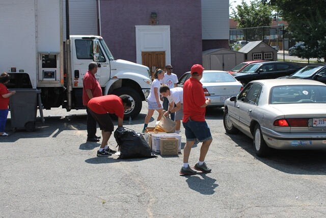 AARP and Mentor Up Volunteers at Shred Event #1