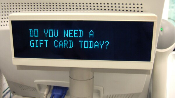 Cash register message